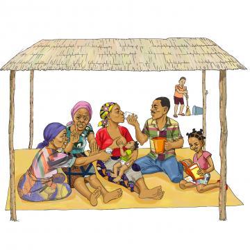Breastfeeding - Family support for exclusive breastfeeding 0-6mo - 02a - Burkina Faso