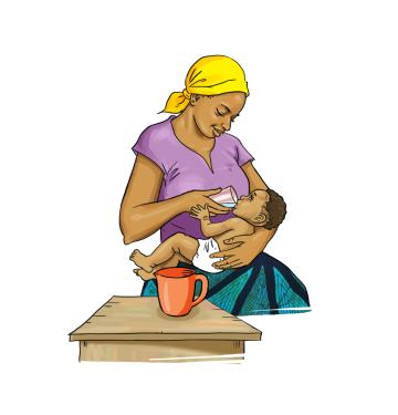 Breastfeeding - Giving water to a baby under six months will hamper milk production 0-6mo - 02 - Burkina Faso