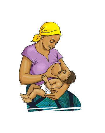 Breastfeeding - Mother breastfeeding baby 0-6mo - 06 - Burkina Faso