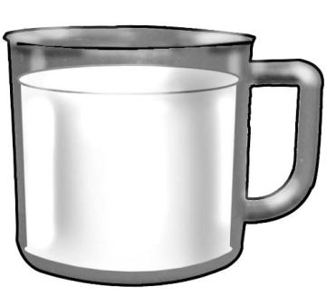 Objects - Cup of milk - 01C - Non-country specific