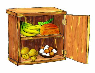 Objects - Cupboard stocked with food - 00B - Nigeria