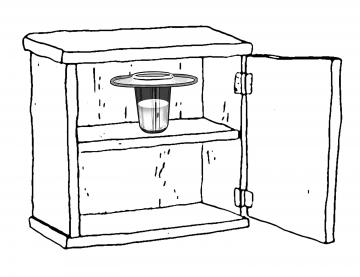 Objects - Cupboard with white cup - 00A - Non-country specific
