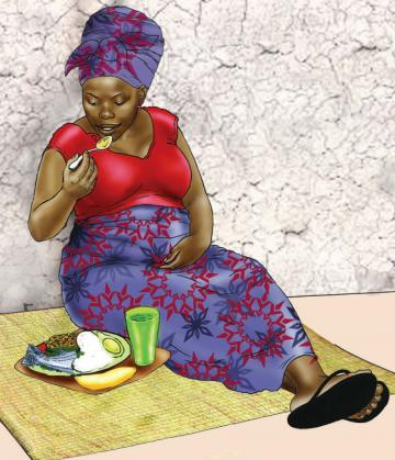 Maternal Nutrition - Pregnant woman eating healthy meal - 01 - Niger
