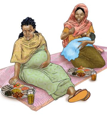 Breastfeeding - Mothers eating healthy meals - 05 - Ethiopia