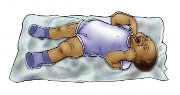 Sick Baby health care - Signs of sick baby - convulsions 0-6 mo - 03A - Nigeria