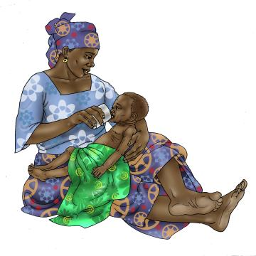 Sick Baby Nutrition - Mother cup feeding sick baby 0-24 mo - 04 - Niger