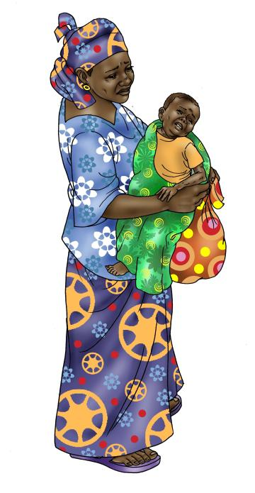 Sick Baby Health Care - Mother holding sick baby 0-24 mo - 02 - Niger