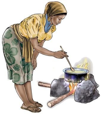 Food practices - Preparing smoked fish powder - 02 - Sierra Leone