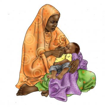 Sick Baby Nutrition - Mother breastfeeding sick baby - 03 - Niger