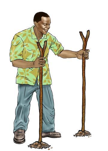 Hygiene - Father building a tippy-tap - 12 - Sierra Leone