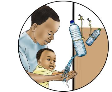 Hygiene - Teaching family members to wash hands 0-24 mo - 00B - Nigeria