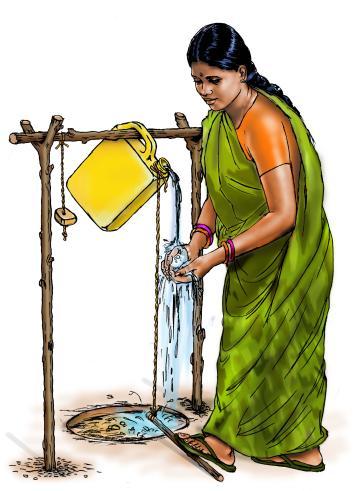 Hygiene - Woman washing hands - 00 - India