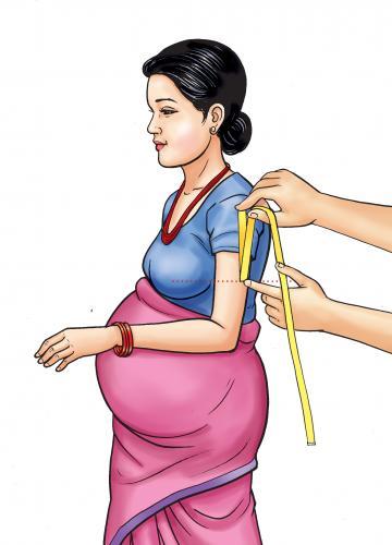 Maternal Health - Maternal MUAC - identifying half-way point - 03 - Nepal