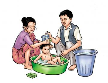 Hygiene - Bathing your baby - 01 - Nepal