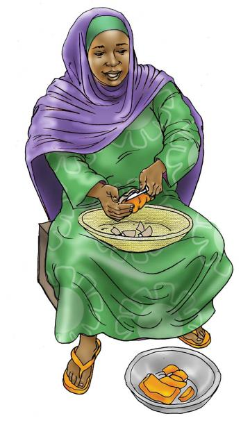 Sick Baby Nutrition - Woman preparing food - 00 - Kenya Dadaab