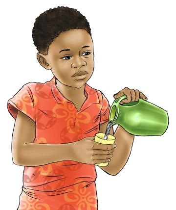Family - Child pouring into cup - 00B - Nigeria