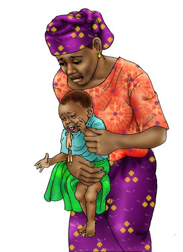 Sick Baby Health Care - Mother with vomiting baby - 00 - Niger