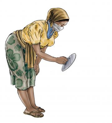 Hygiene - Mother preparing clean water - 03 - COVID