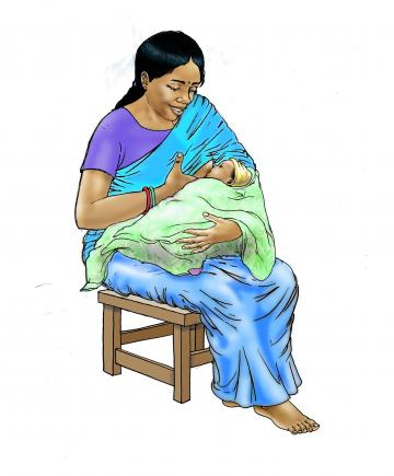 Breastfeeding - Exclusive breastfeeding - sitting 0-6 mo - 00 - India