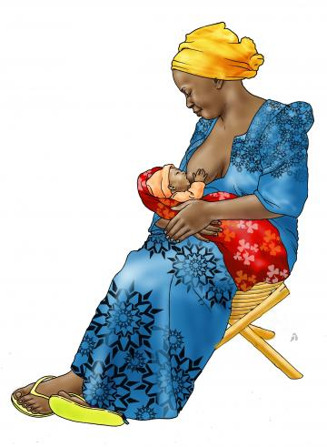 Breastfeeding - Exclusive breastfeeding - sitting - 00A - Nigeria