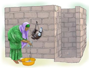 Sanitation - Woman washing hands - 02 - Niger