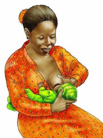 Breastfeeding - Breastfeeding positions 0-6 mo - 01B - Non-country specific
