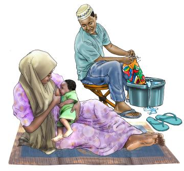 Breastfeeding - Father support for breastfeeding 0-6 mo - 00 - Niger