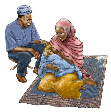 Father Support - Father supporting breastfeeding 0-6 mo - 01A - Niger