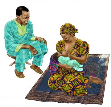 Breastfeeding - Father support for breastfeeding 0-24 mo - 01B - Senegal