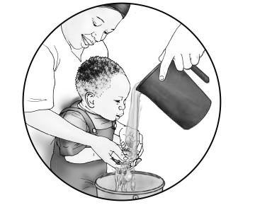 Hygiene - Washing the baby's hands 0-24 mo - 02A - Non-country specific