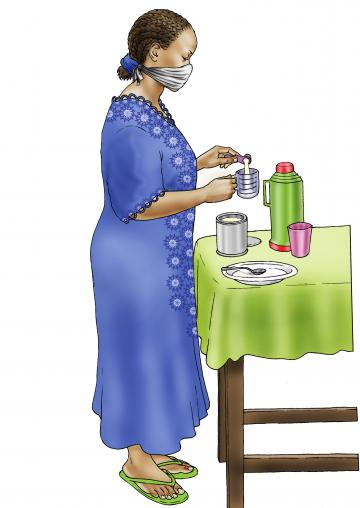 Cup Feeding - Preparing infant formula - 02 - COVID