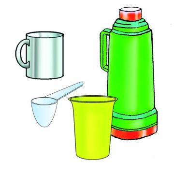 Objects - Utensils needed for making formula - 00B - Non-country specific