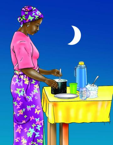 HIV/AIDS - Preparing infant formula at night 0-24 mo - 04B - Non-country specific