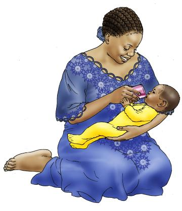 HIV - Cup feeding formula to an infant 0-24 mo - 05 - Non-country specific