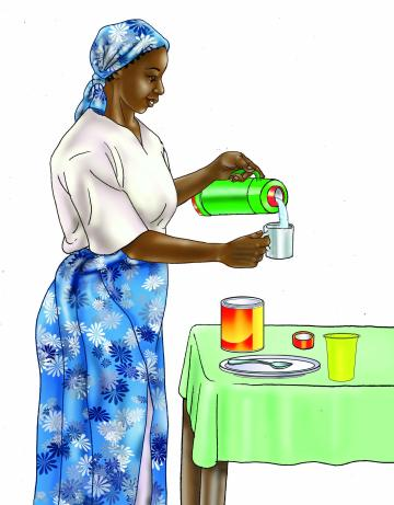 HIV - Preparing infant formula 0-24 mo - 03 - Tanzania
