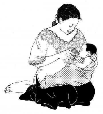 HIV - Cup feeding formula to an infant 0-24 mo - 05A - Non-country specific