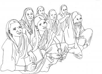 People - Group of women sitting - 07 - India