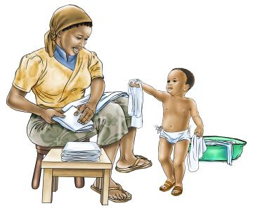 Hygiene - Changing diapers - 05 - Sierra Leone
