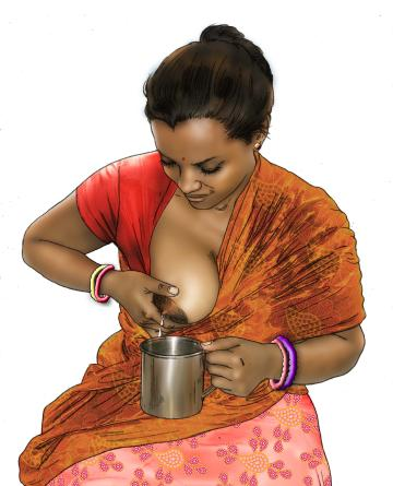 Cup feeding - Expressing breastmilk - 02C - India