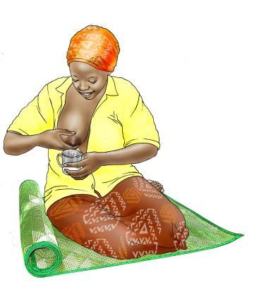 Cup Feeding - Expressing breastmilk - 02C - Nigeria