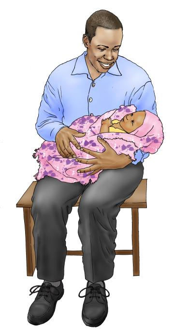 Father Support - Father taking care of child 0-6 mo - 03 - Non-country specific