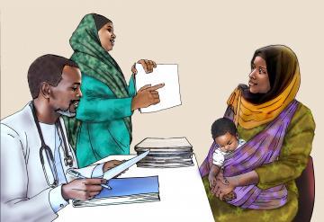 Counseling - Visiting the health clinic - 03 - Kenya Dadaab