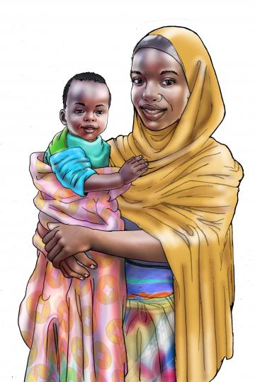 People - Mother and child - 00 - Niger