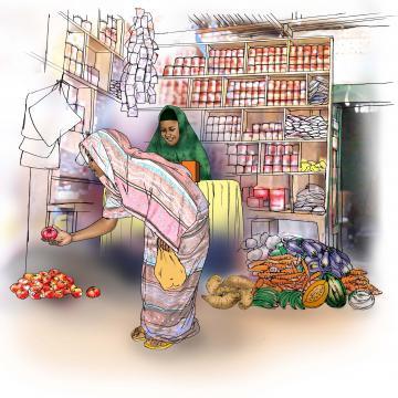 Food practices - Buying fruits and vegetables - 01 - Kenya Dadaab