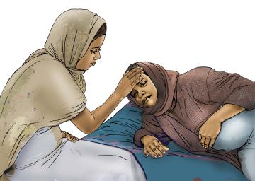 Maternal health - When to visit the health clinic - pregnancy - 07 - Kenya Dadaab