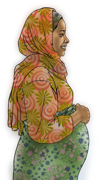 People - Healthy pregnant woman - 08B - Kenya Dadaab