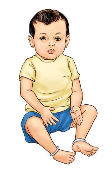 People - Healthy baby boy 9-12 mo - 01A - Nepal