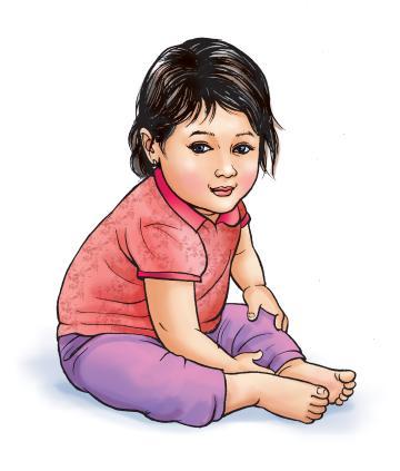 People - Healthy baby girl 12-18 mo - 02B - Nepal