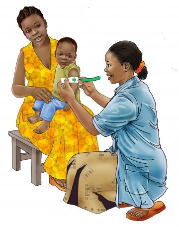 Child Health Care - Measuring a child's arm - 00 - Rwanda