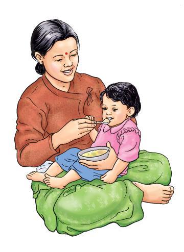 Complementary feeding - Complementary feeding at 9-12 months 9-12 months - 06 - Nepal